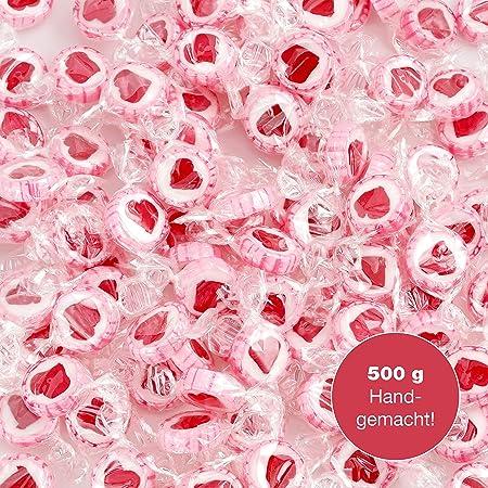 WeddingTree Caramelos Corazón Rosa para Wedding - 500g Caramelos ...