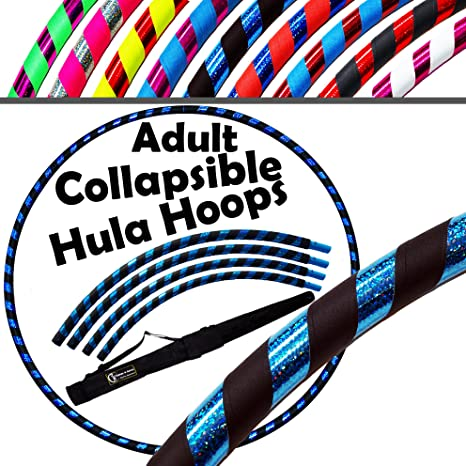 Weighted TRAVEL Hula Hoop NO Instructions Needed Same Day Dispatch! Ultra-Grip//Glitter Deco Dance /& Fitness! PRO Hula Hoops 100cm//39 640g Hula Hoops For Exercise