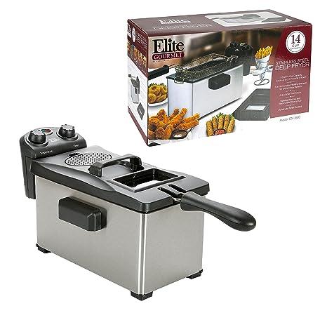 Amazon.com: Elite Gourmet EDF-3500 Maxi-Matic 3.5 Quart Deep Fryer ...