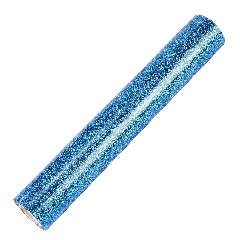Topmail DIY Holographique Cristal Argent en Vinyle de Transfert de Chaleur Papier Thermocollant HIV Film de Lettrage pour V/êtement T-Shirt Logos Publicit/és Affiches,160cmx25cm Bleu
