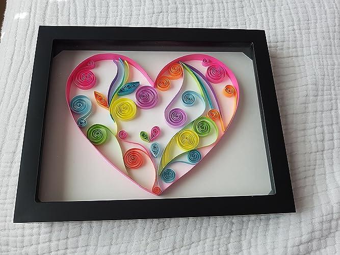 Amazon Com Lmc Handmade Heart Paper Quilling Home Decor Gift Idea