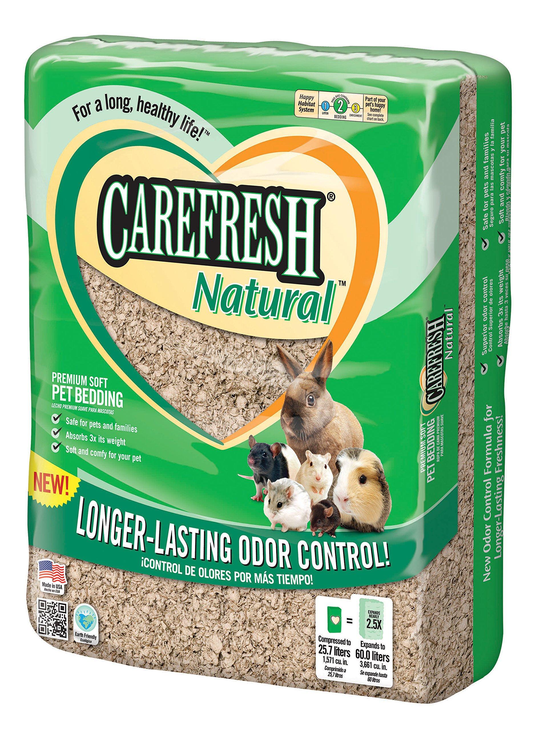 Carefresh Natural Premium Soft Pet Bedding, 60- Liter by Monster Pets