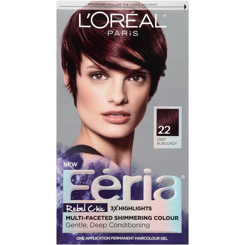 Amazon Loral Paris Feria Permanent Hair Color 22 Bordeaux