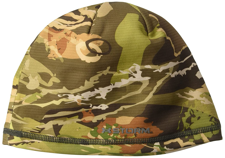 Under Armour Boys' Scent Control Storm Fleece Beanie, Blaze Orange/Black, One Size Under Armour Accessories 1300489