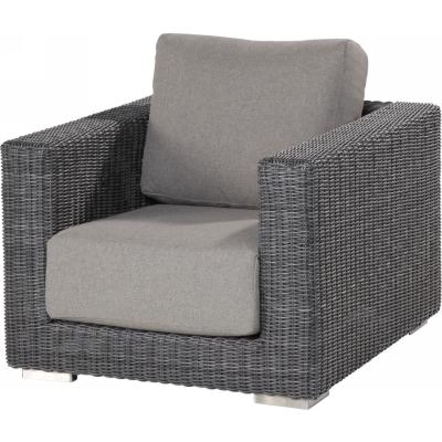 4Seasons Outdoor Somerset living Sessel Korbsessel Polyrattan charcoal wicker