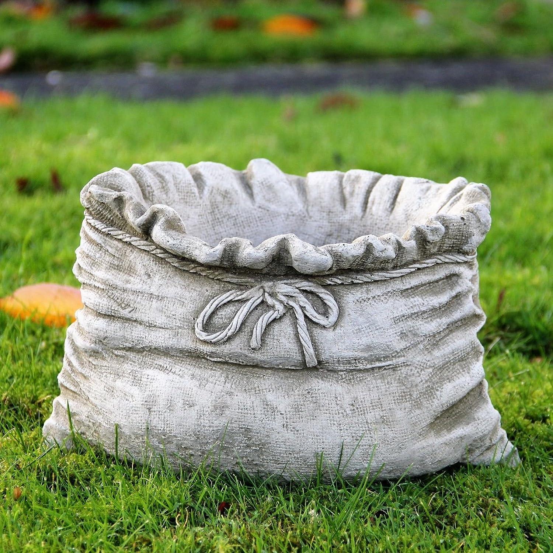 Saco maceta/maceta piedra adorno de jardín Handcast hogar patio decoración: Amazon.es: Jardín