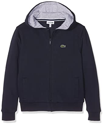 b83bbcd690 Lacoste Sweat-Shirt de Sport à Capuche Garçon: Amazon.fr: Vêtements ...