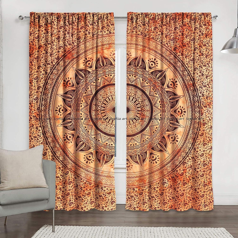 Indisch Ombre Mandala Wandvorhänge Fenstervorhänge Raumteiler Hippie Tapisserie
