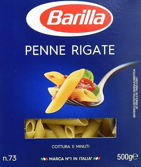Barilla - Pastas Penne Rigate nº73 500 gr - Pack de 5 (Total 2500 grams