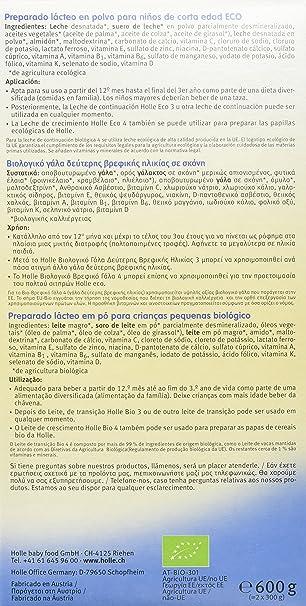 Holle Leche de Continuación 4 (+12 meses) - 600 gr: Amazon.es: Alimentación y bebidas