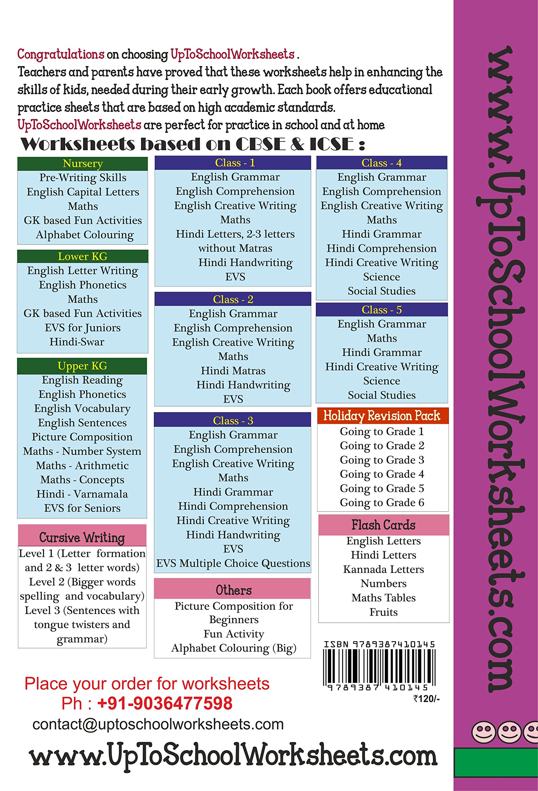 Amazon.in: Buy Grade 1 English Creative Writing Worksheets : Picture ...