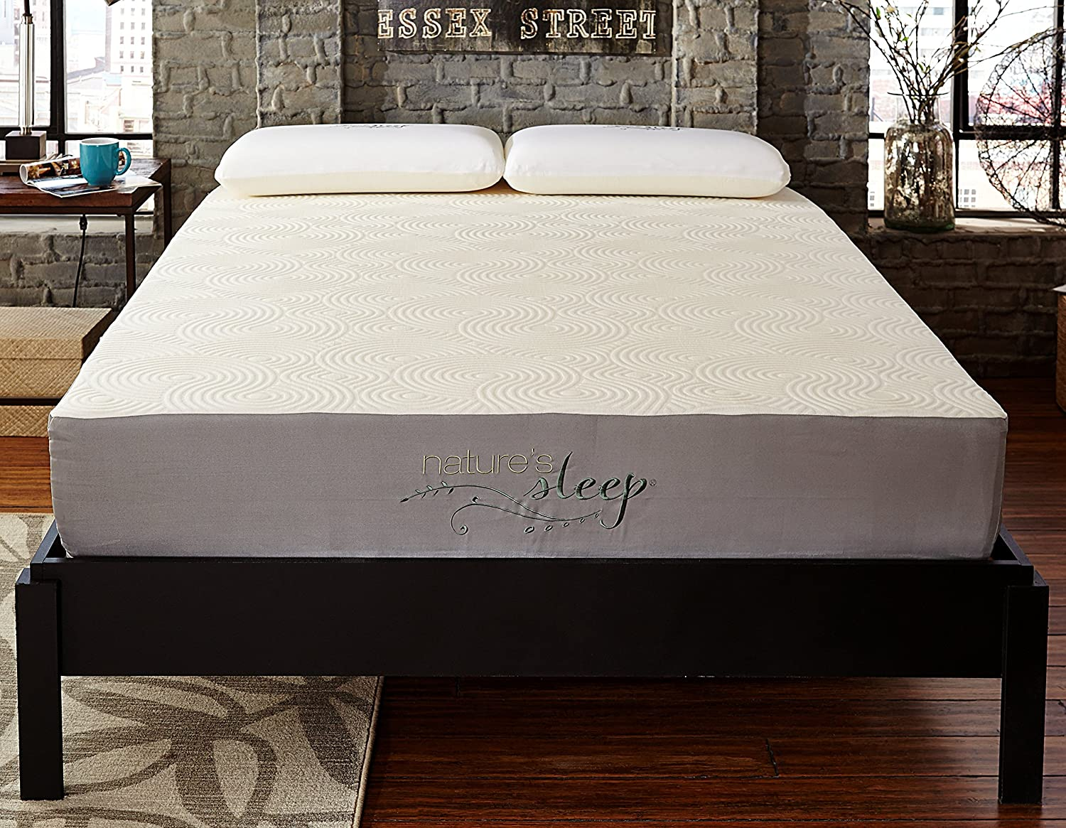 amazon com nature s sleep 510lps50 10 gel memory foam mattress