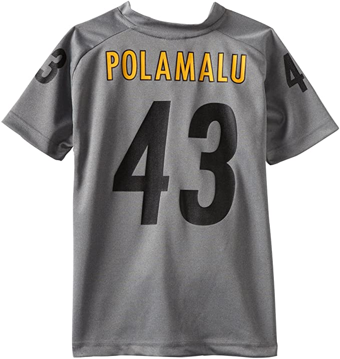 7a4ec5b61 NFL Pittsburgh Steelers Troy Polamalu 8-20 Youth Charcoal Player Replica  Jersey