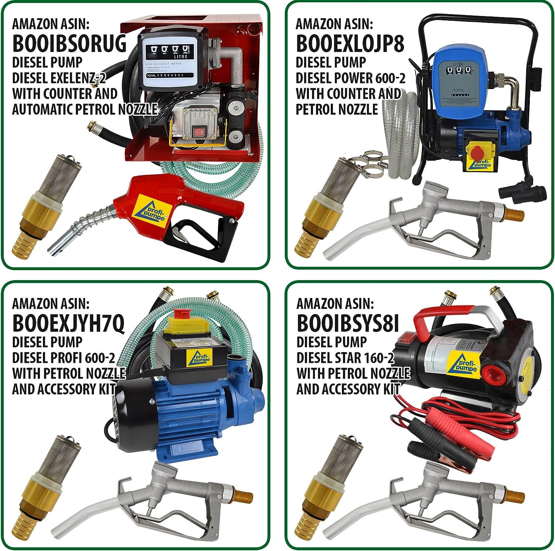 Bomba DE Combustible 230V gasolio con 2 boquillas de lat/ón y Abrazaderas Bomba ASPIRACI/ÓN Bomba AUTOCEBANTE Deluxe CKm50 para Agua biodiesel Amur Bomba TRASVASE GASOLIO Bomba Diesel