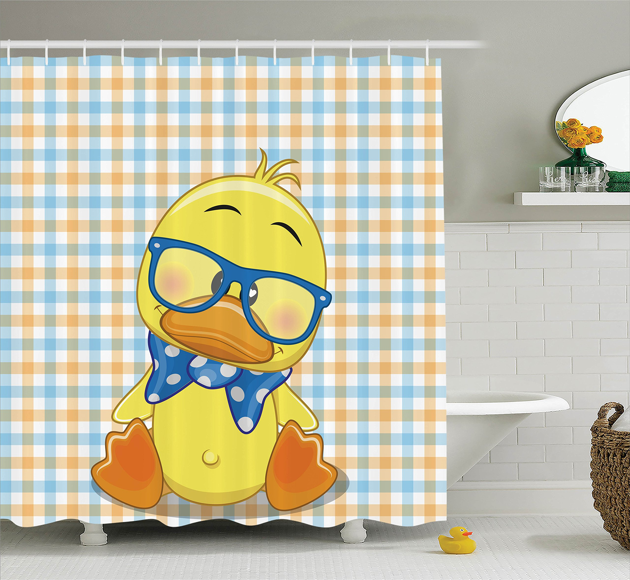 Cartoon Decor Shower Curtain Set By Ambesonne, Hipster Boho Baby ...