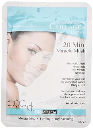 Amazon.com : Bio-Miracle Anti-Aging and Moisturizing Face Mask, Rose, 5 Count : Facial Masks : Beauty
