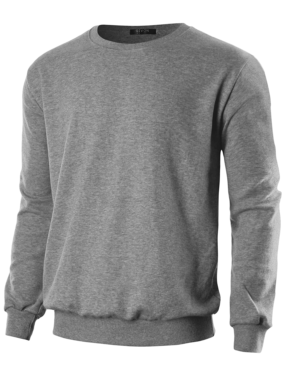 GIVON Mens Lightweight Crew Neck Sweatshirt