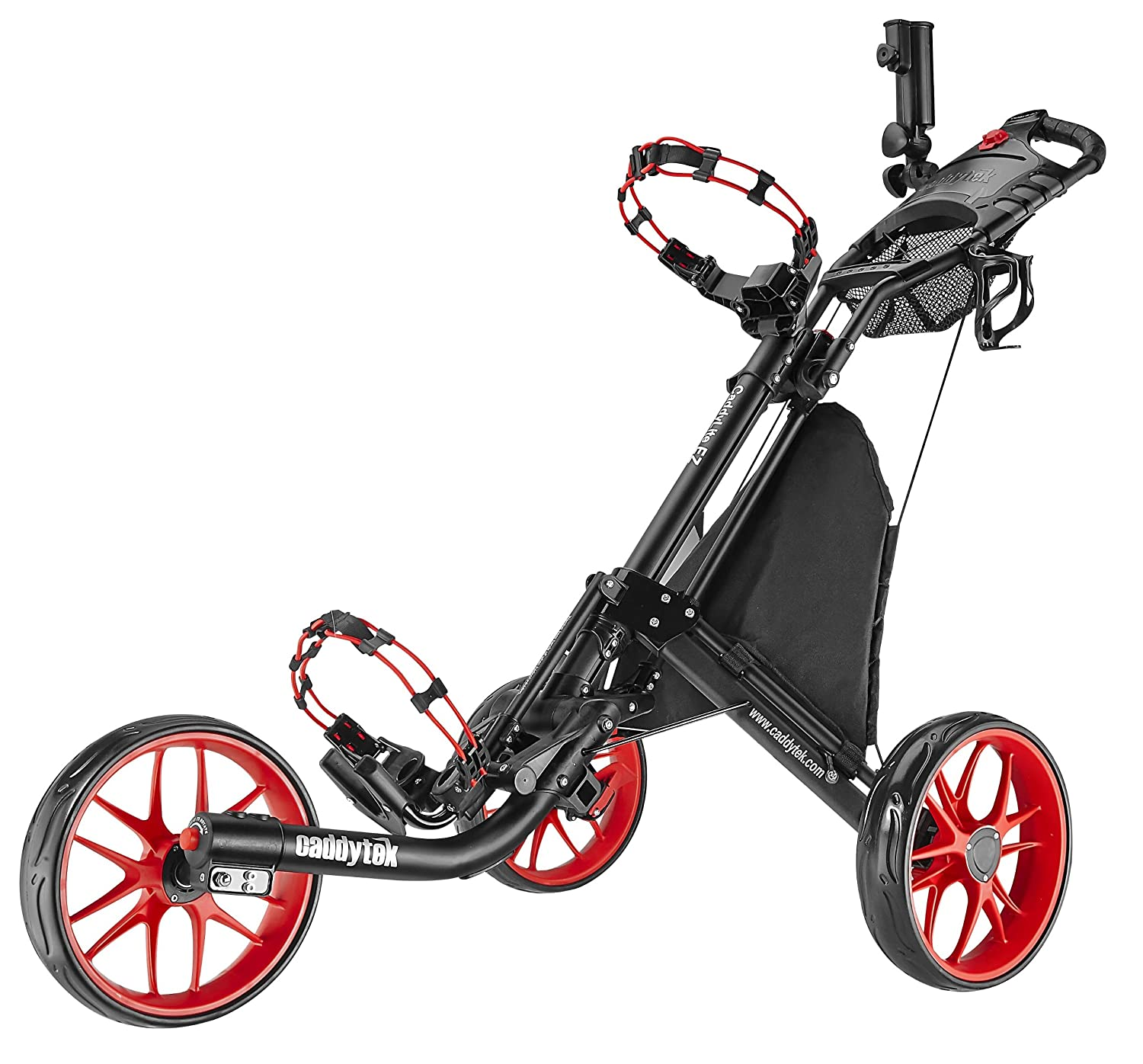 Caddytek CaddyLite EZ 3-Rad Golftrolley Rahmen Räder Rot: Amazon.de ...