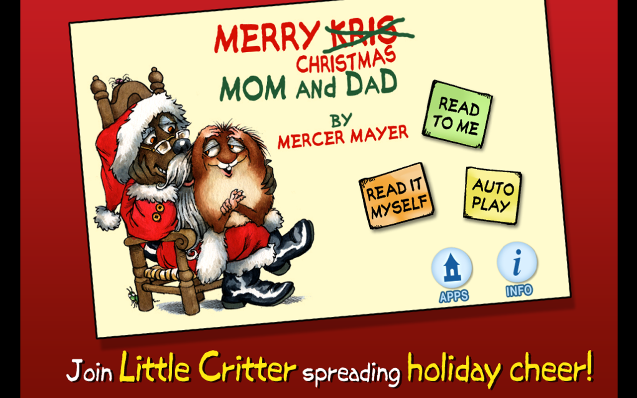 Amazon.com: Merry Christmas Mom And Dad   Little Critter: Appstore For  Android