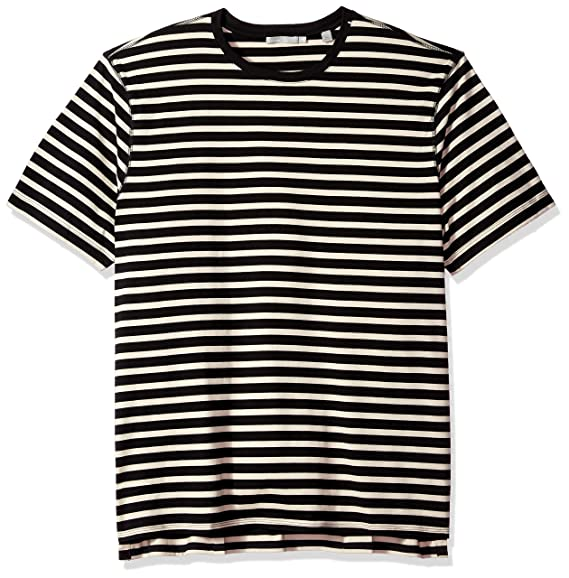 Vince Mens Smooth Jersey Striped Short Sleeve Crew