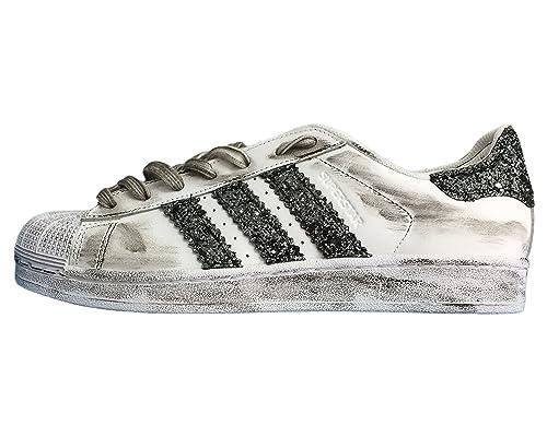 scarpe alte adidas glitter borchie