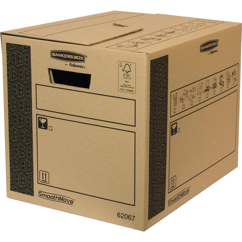 Bankers Box 6206902 Scatola per Traslochi e Trasporti Cargo Robusta SmoothMove, 350 x 370 x 500 mm Fellowes