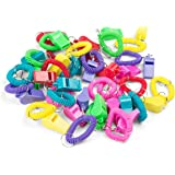 2 Dozen Around the Wrist Whistle Bracelets with Keychain in Assorted Colors - Bulk Whistles- Bulk Toys - Party Favors - Sports Bracelets for Kids - Easter Basket Fillers