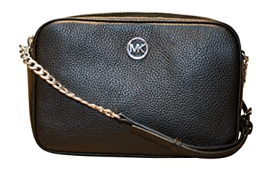2e6f0b1803 Michael Kors Fulton Large East West Leather Crossbody with Back Slip  Pocket