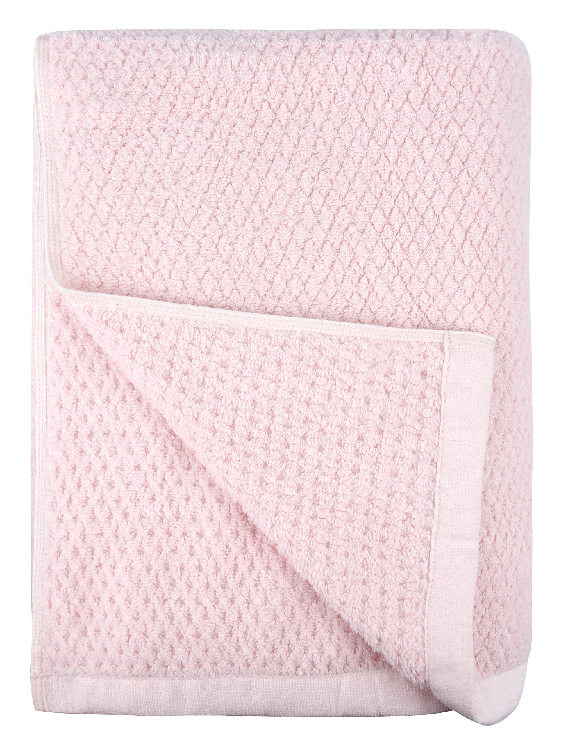 Everplush Diamond Jacquard Bath Sheet in Light Pink