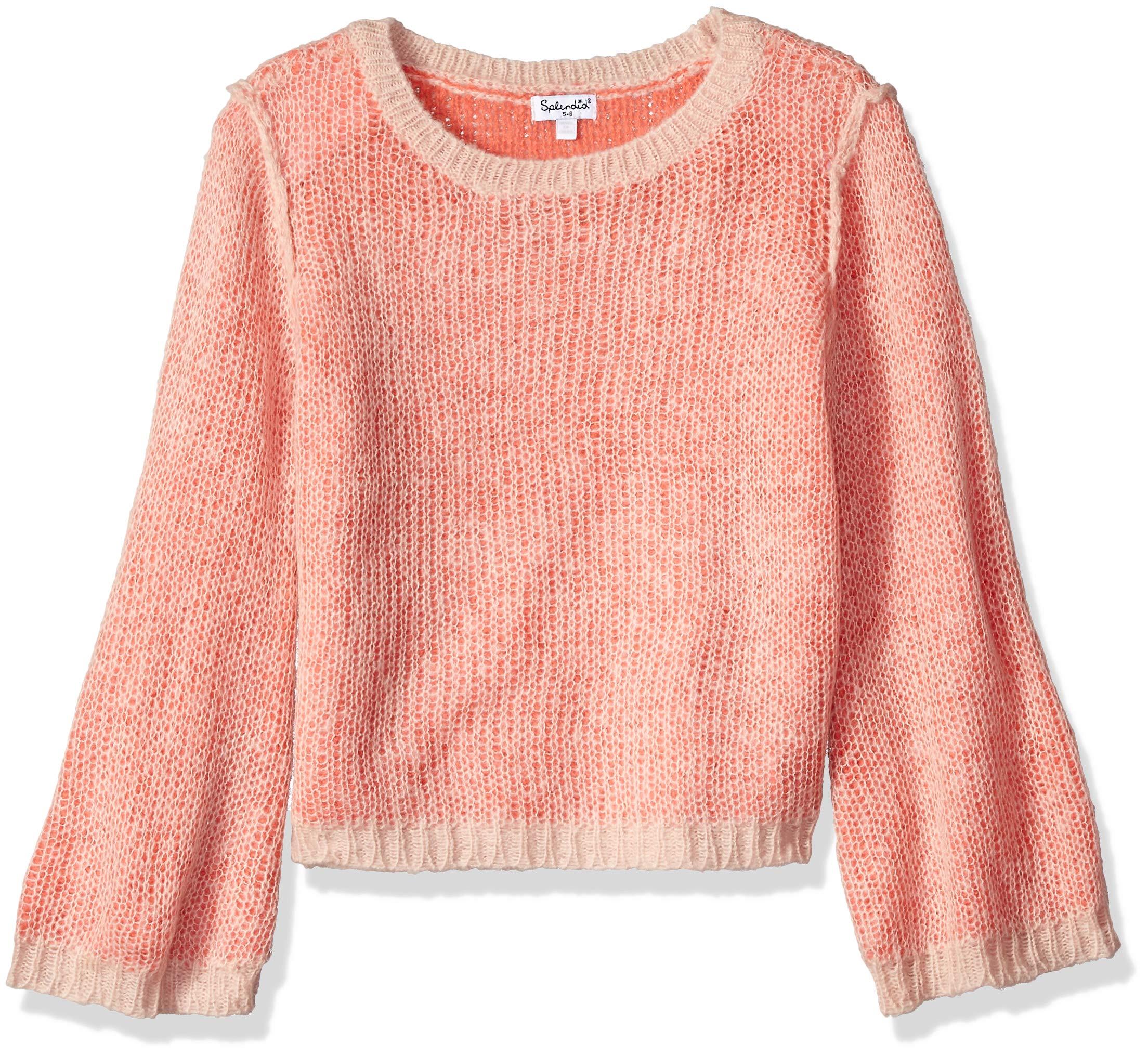 Splendid Girls' Little Sweater, Strawberry ice, 5/6