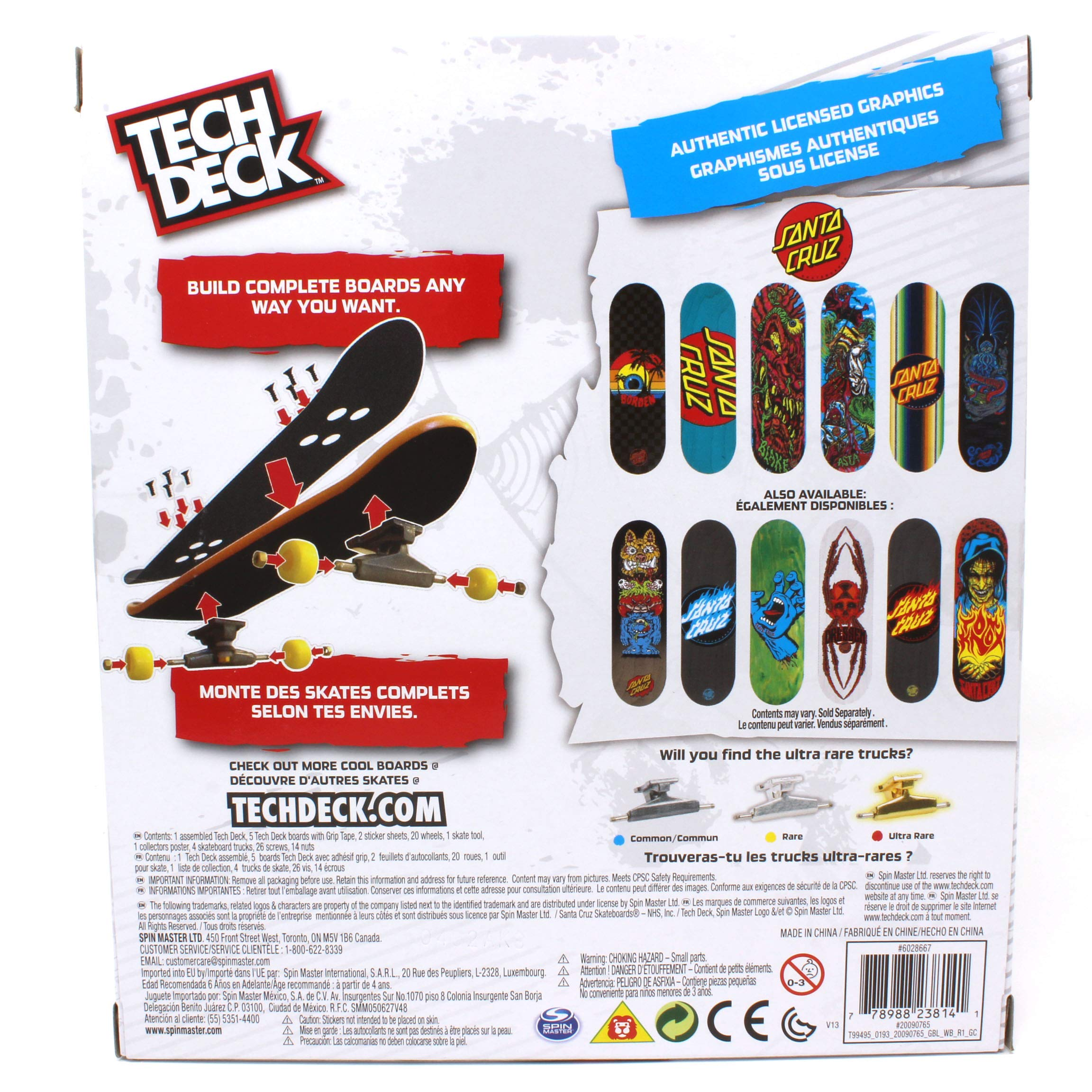 Tech Deck Santa Cruz Skateboarding Sk8shop Bonus Pack with 6 Fingerboards - 20th Anniversary by Tech Deck (Image #1)