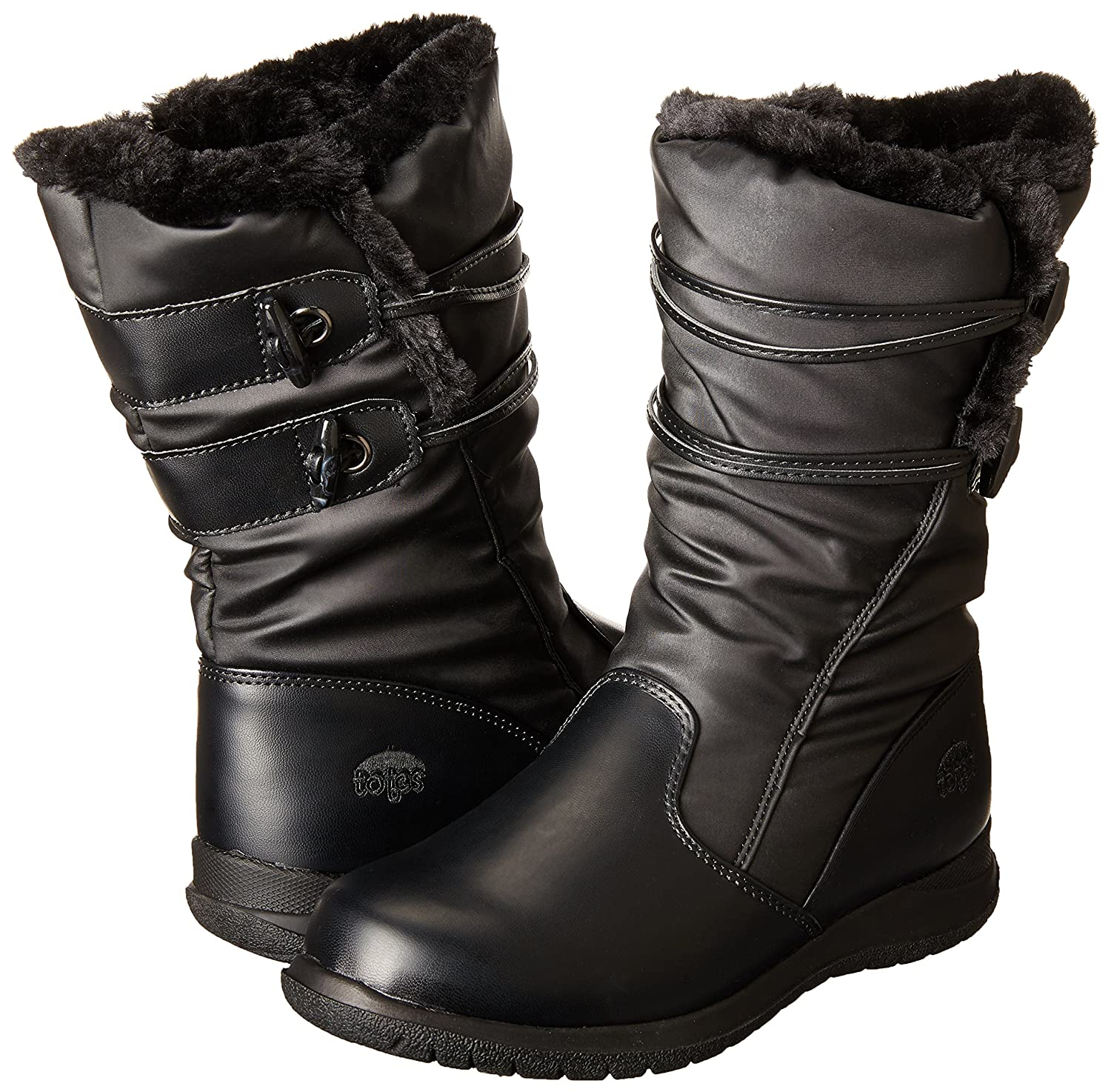 totes Women's Judy with Toggles Snow Boot B00GSG4966 6 B(M) US|Black