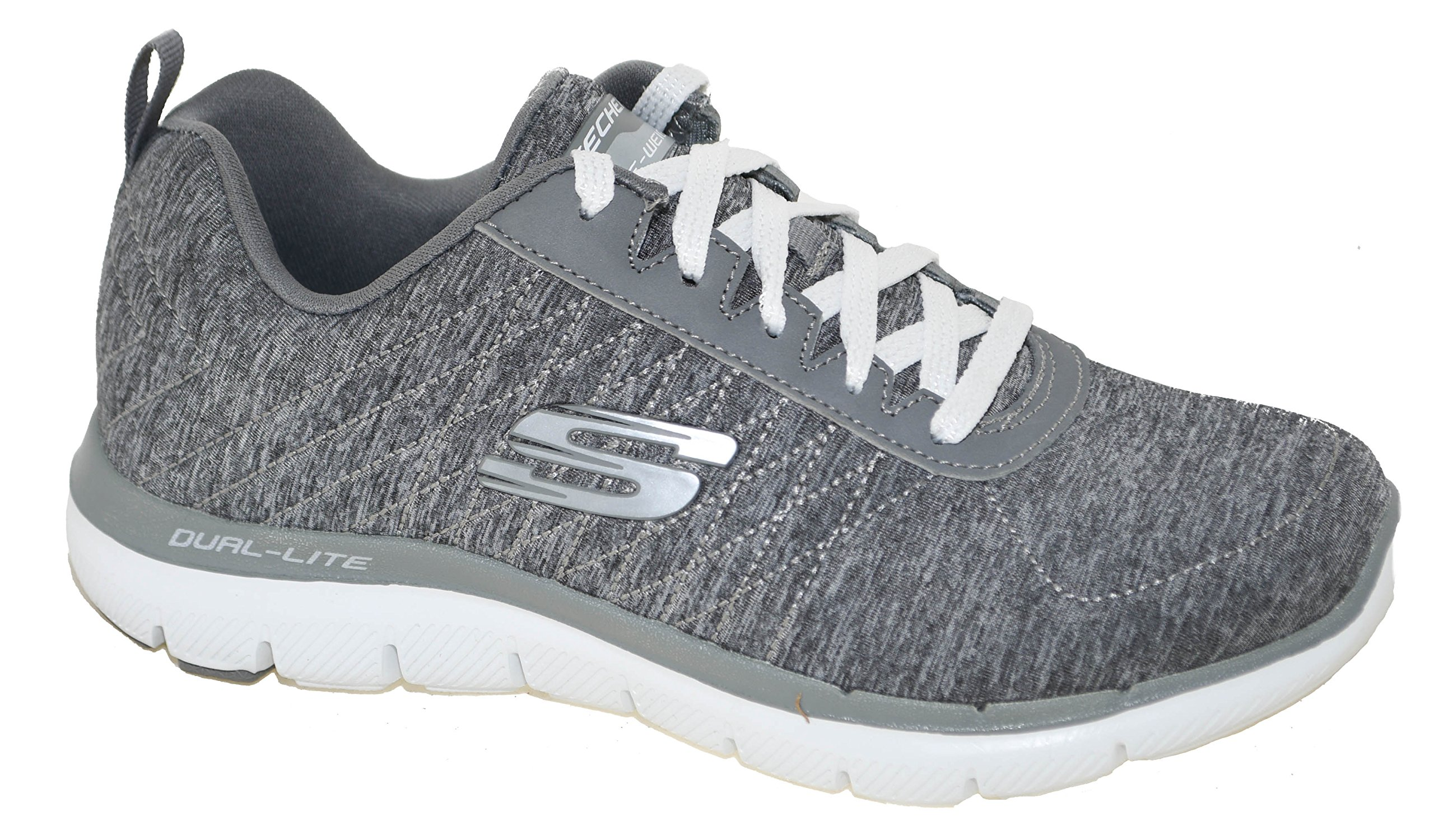 Skechers Women's Flex Appeal 2.0 Training Sneaker Style 12753 Gry, 8.5W