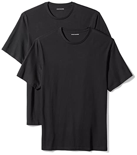 a42be6758 Amazon Essentials Men's 2-Pack Loose-Fit Short-Sleeve Crewneck T-Shirts