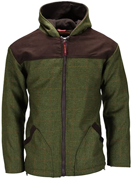 New Mens Tweed Breathable Waterproof Hoodie Hooded Jacket Coat Zip ...