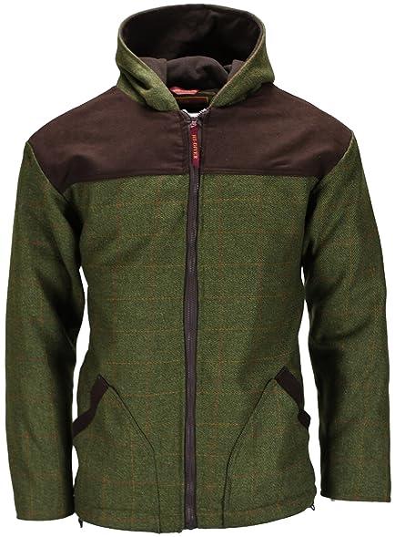 New Mens Tweed Breathable Waterproof Hoodie Hooded Jacket Coat Zip ...