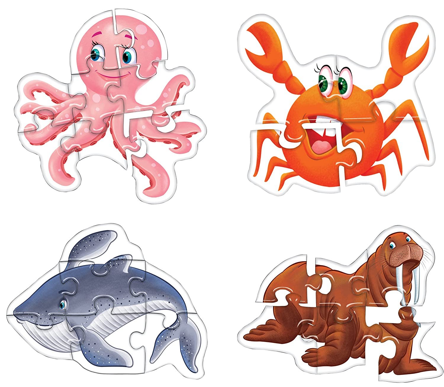 Creative's Early Puzzles Step II, Water Animals, Multi Color