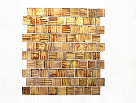 Piastrelle mosaico mosaico piastrelle lucido marrone cucina bagno