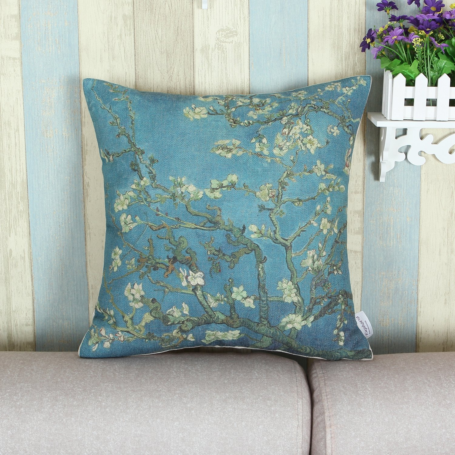 Amazon CaliTime Cushion Cover Throw Pillow Case Shell Famous
