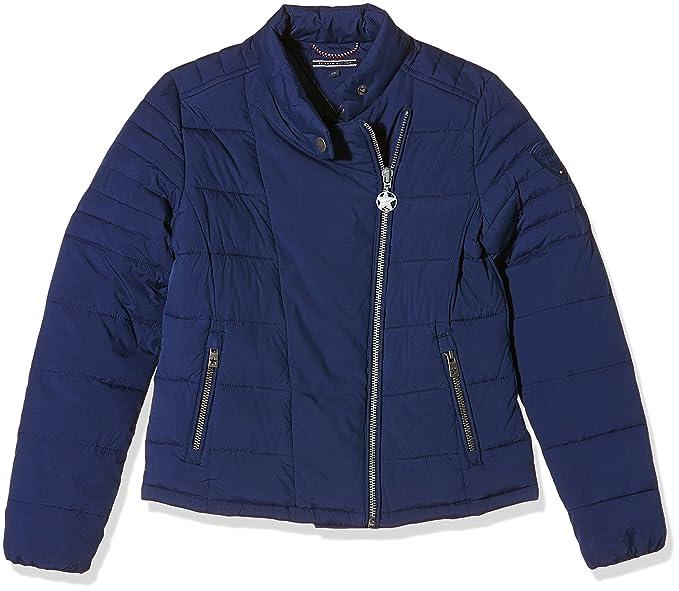 Tommy Hilfiger Seda Quilted Biker Jacket, Abrigo para Mujer, Medieval Blue, 10: Amazon.es: Ropa y accesorios
