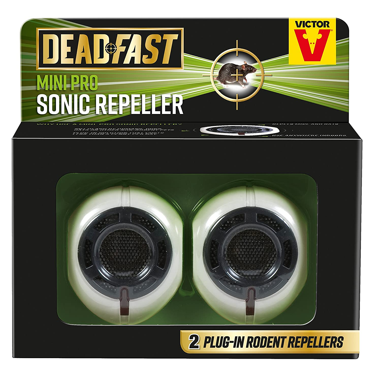 Deadfast Mini Pro Rat and Mouse Sonic Repeller, Twin Pack Woodstream 20300404