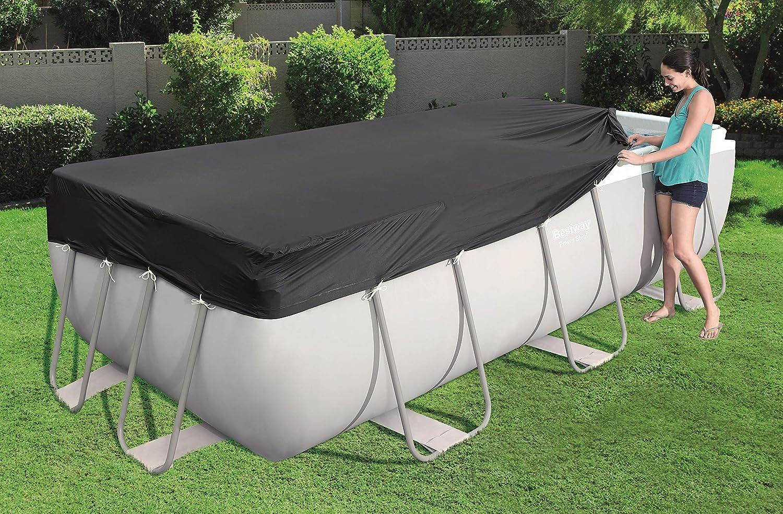 Bestway 58232 Cobertor Invierno para Piscina Desmontable, 412 x 201 cm: Amazon.es: Juguetes y juegos