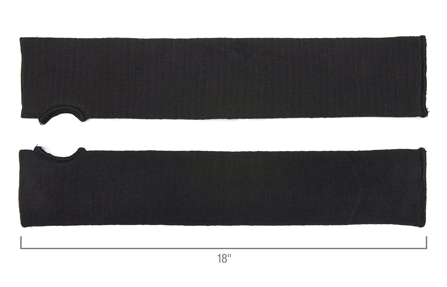 Cut-Resistant STEELMAN 60020 Kevlar Safety Sleeves ; Black, Protects Against Heat Double Layer Protection Pair Water Oil
