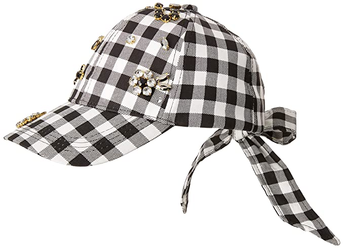Betsey Johnson Women s Checkered Past Baseball Hat 45b5e5fa5a6b
