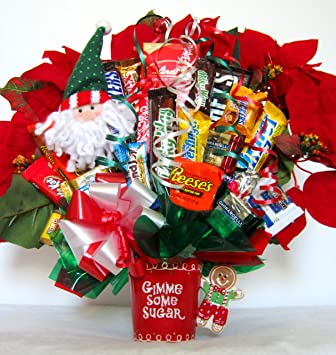 christmas candy bouquet gimme some sugar - Christmas Candy Bouquet