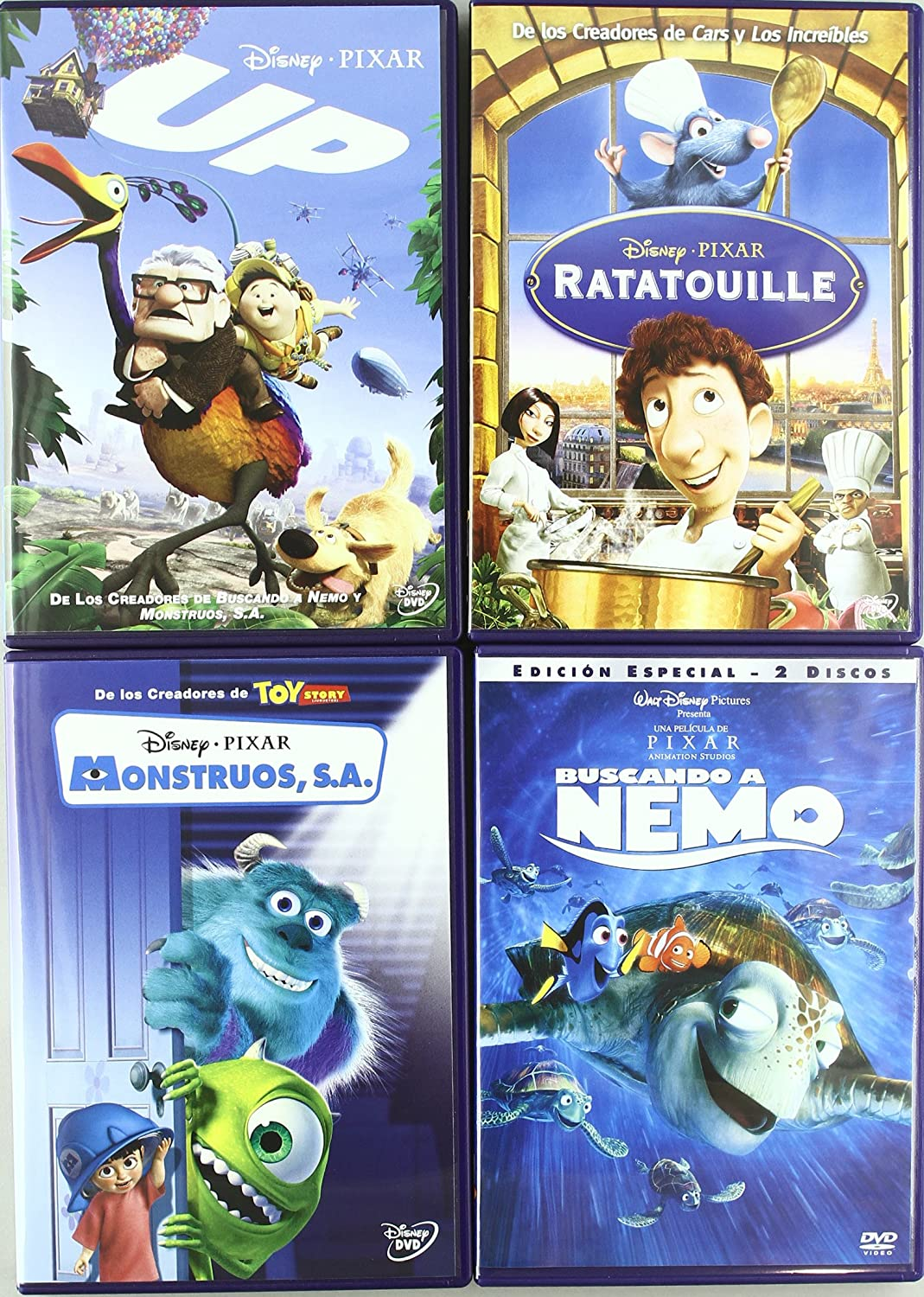 Spain-Pixar Pack Dvd 12 Titles: Amazon.es: Personajes Animados ...