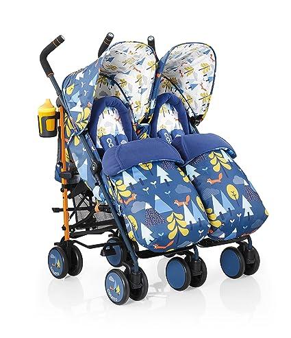 Cosatto Supa Dupa Twin Stroller (Fox Tale): Amazon.es: Bebé