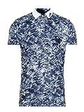 J.Lindeberg Men's Slim Fit Tour Tech Tx Jersey Polo Shirt, Ocean camo el, XX-Large