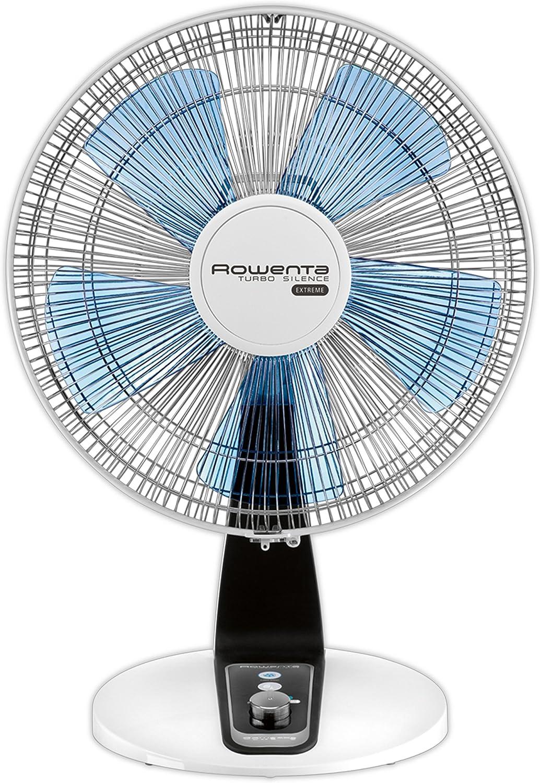 Rowenta Tubro silence - Ventilador (Ventilador con aspas para el hogar, Negro, Azul, Blanco, Piso, Mesa, 45 dB, 4800 m³/h, 70 W)