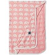 KicKee Pants Baby Essentials Swaddling Blanket Girls, Lotus Elephant, One Size